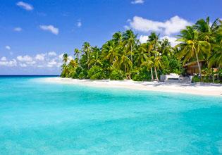 Vue de la plage de Park Hyatt Maldives