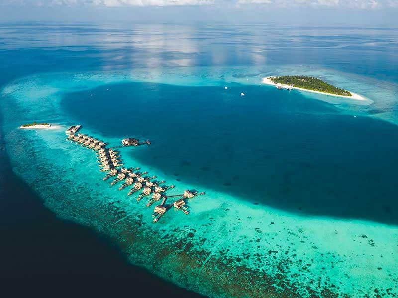 Maldives - Angsana Velavaru - Vue aérienne