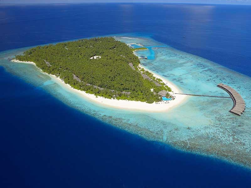 Maldives - Filitheyo Island Resort - Vue aérienne