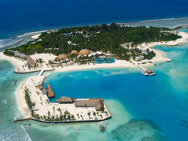 Maldives - Holiday Inn Resort Kandooma - Vue aérienne