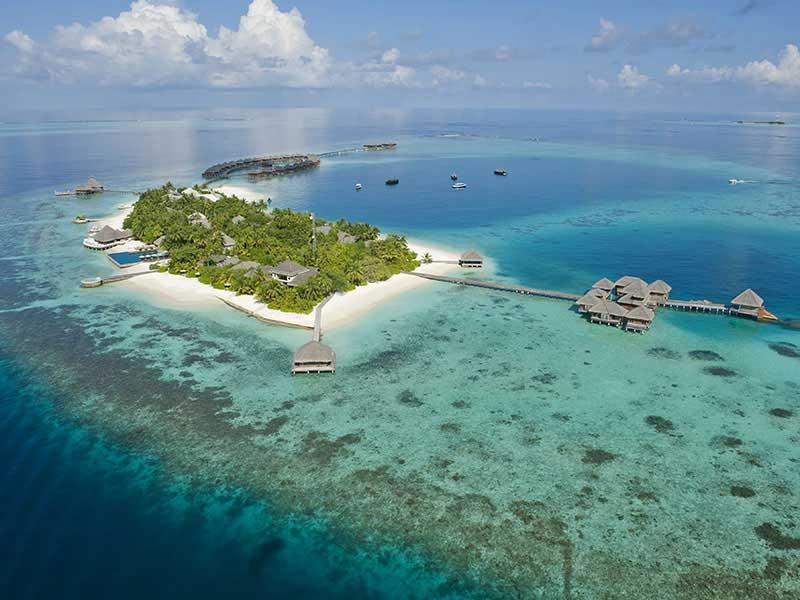 Maldives - Huvafen Fushi - Vue aérienne