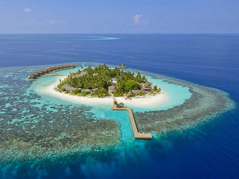 Maldives - Kandolhu Island - Vue aérienne