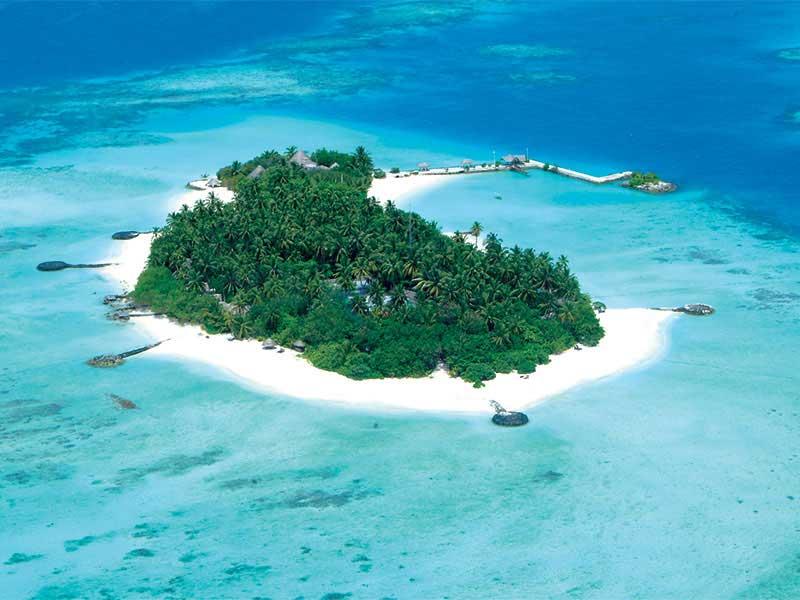 Maldives - Makunudu Island - Vue aérienne
