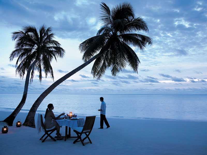 Maldives - Shangri-La Vilingili Resort & Spa - Diner romantique