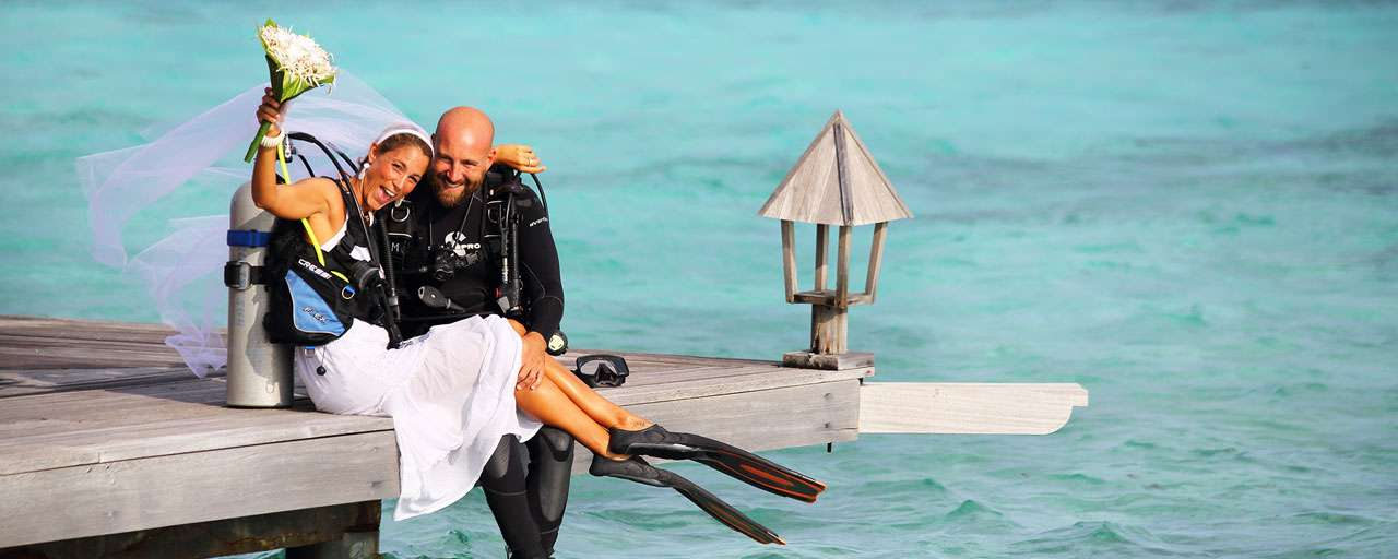 Couple en voyage de noces - Gangehi Island Resort